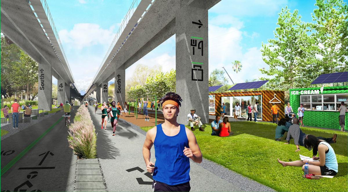 Corner is also designing an 'underline' park to encourage health and fitness in Miami / Field Operations