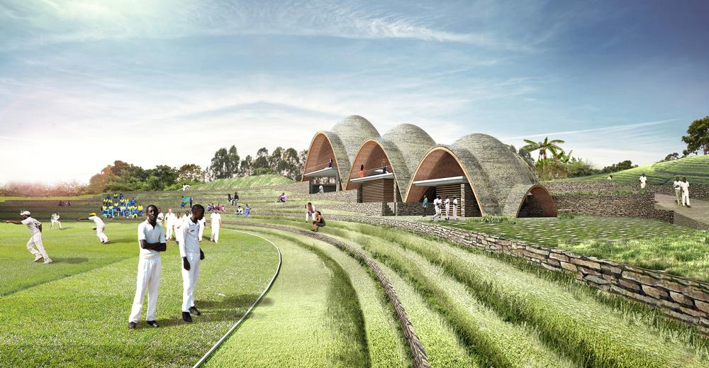 A crowdfunding campaign was launched in October 2016 to raise money for the cricket stadium and pavilions