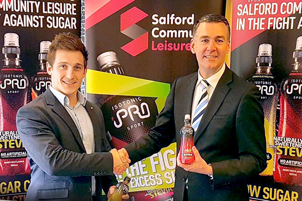 Nick Hird of iPro Sport (left) and Mark Chew of Salford Community Leisure