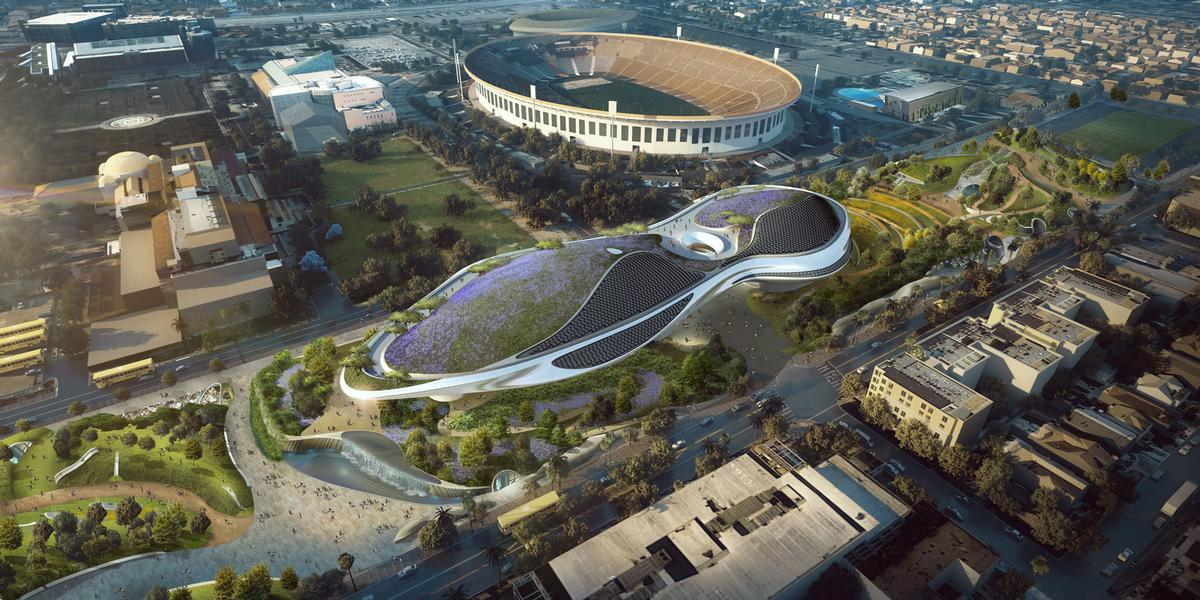 New design tweaks include the expansion of the building's landscaped roof, bringing the total amount of new public green space on the site to 11 acres / MAD Architects