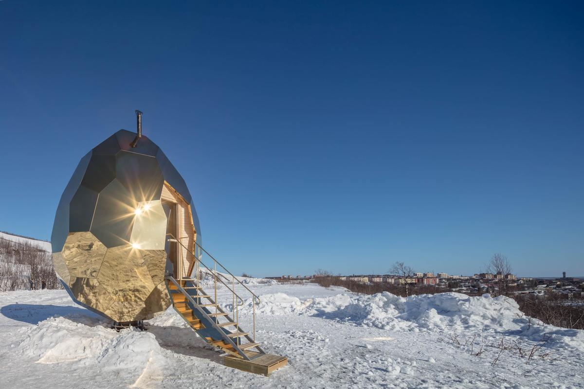 Solar Egg is conceived as a social art work in which the people of Kiruna, Sweden / Jean-Baptiste Béranger