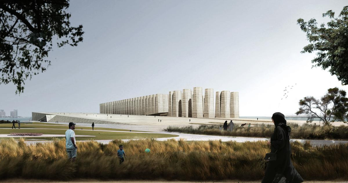 Elemental have taken inspiration from the monumental grain silos on the site / Elemental and Malcolm Reading Consultants