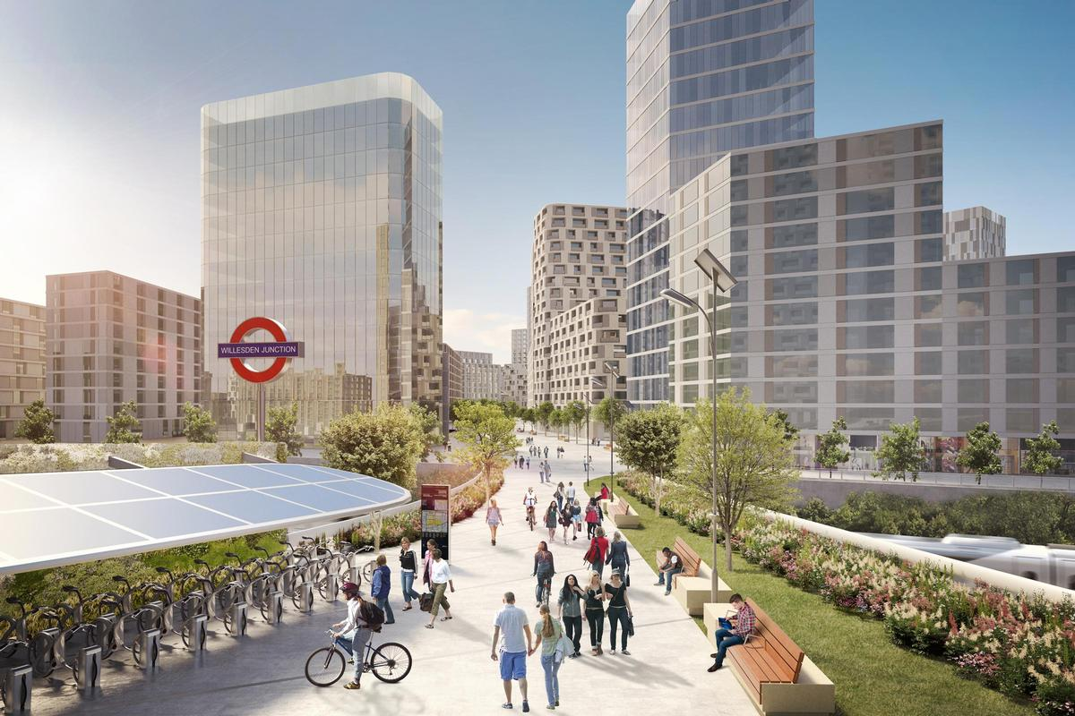 The opening of a super-hub interchange station for the High Speed 2 and Elizabeth rail networks by 2026 will catalyse the regeneration of the area / OPDC