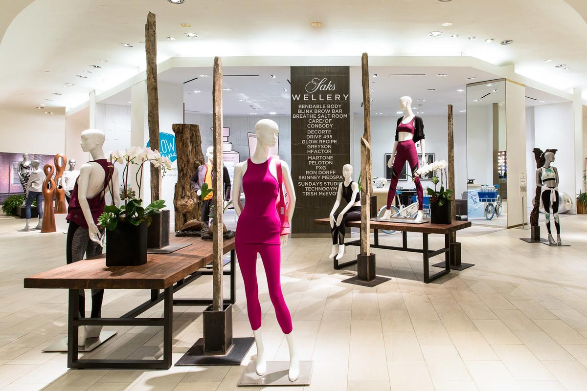 The Wellery includes 22 spaces offering skincare products and treatments, fitness classes and equipment, women's and men's activewear and athleisure apparel