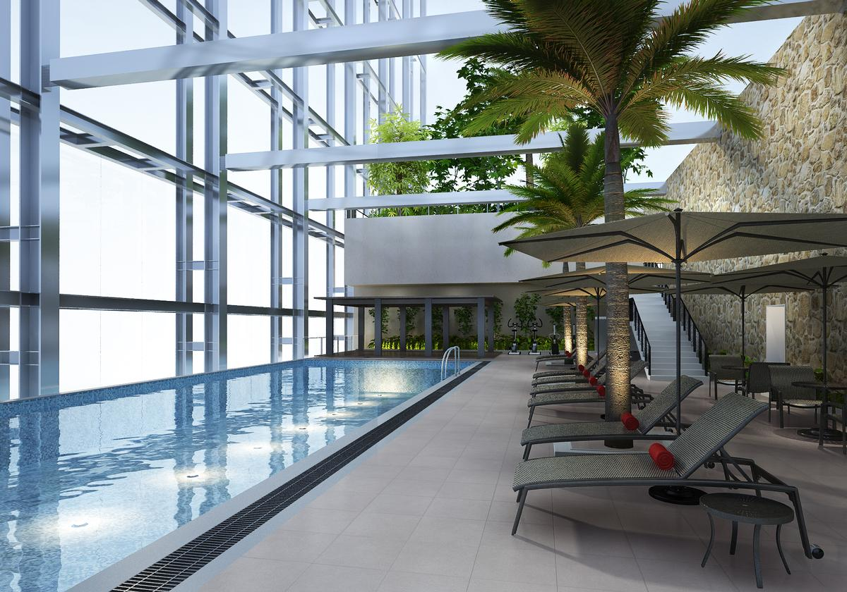 The singapore site features a rooftop pool and a deck for - Fitness first swimming pool singapore ...