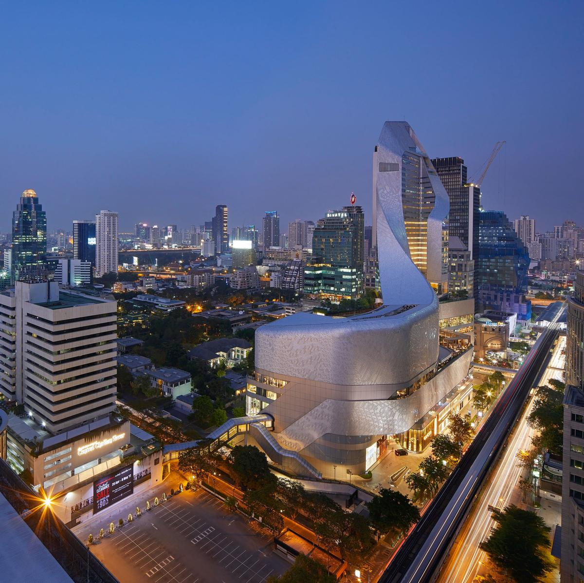 The 1.5 million sq ft complex has been designed to 'bring a distinguishing new silhouette' to Bangkok / Hufton + Crow