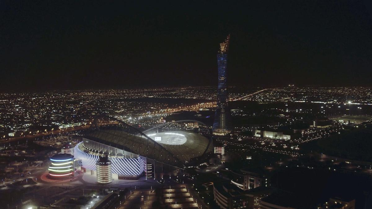 First 2022 world cup stadium completed in qatar for Architecture firms in qatar