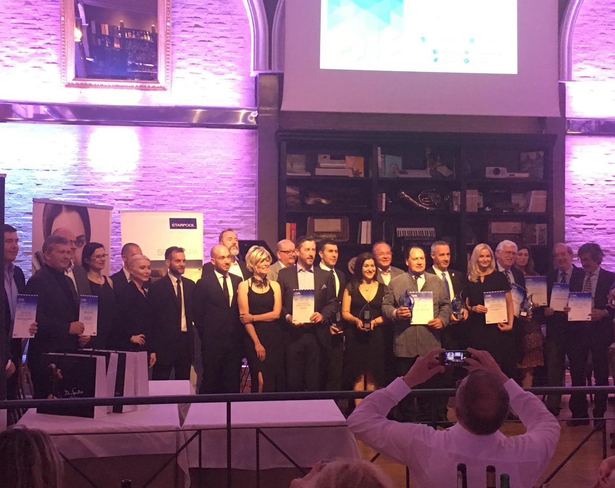 The winners were announced during the ESPA annual Congress Gala Dinner