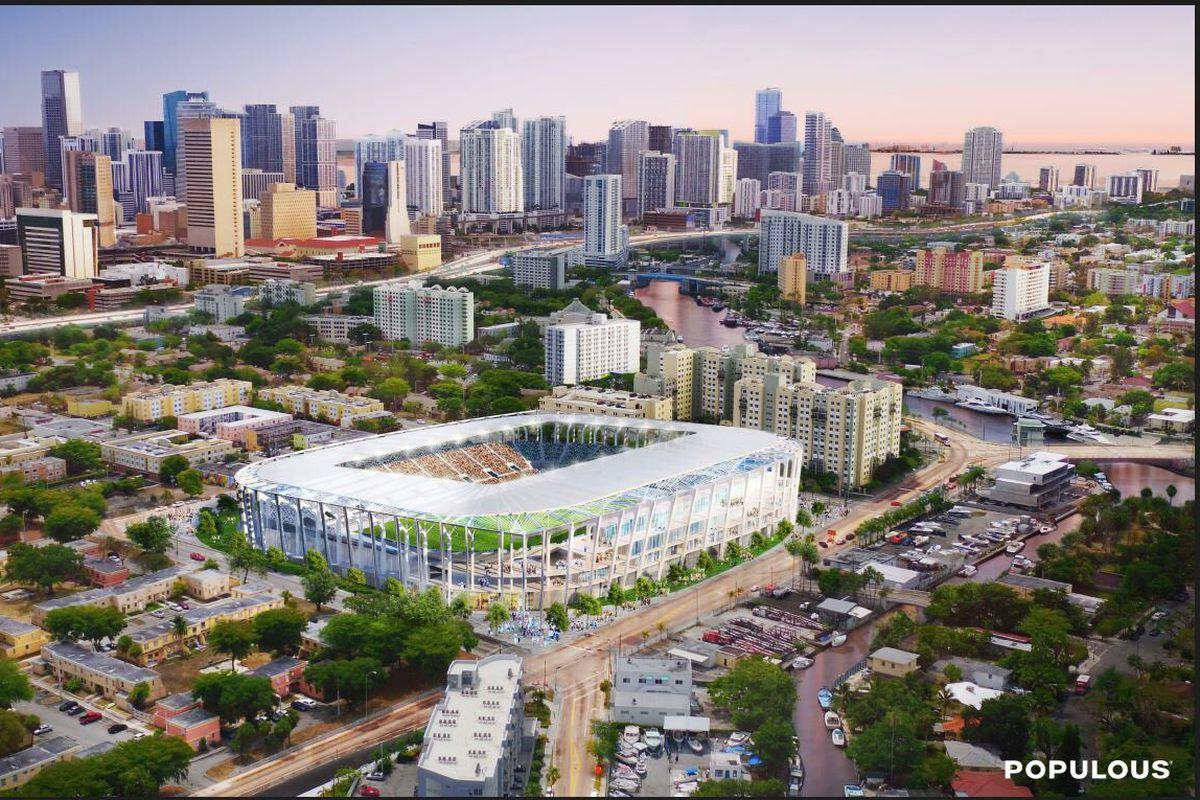 Populpus have designed the open-air, 25,000-capacity stadium for Miami Beckham United / Populous