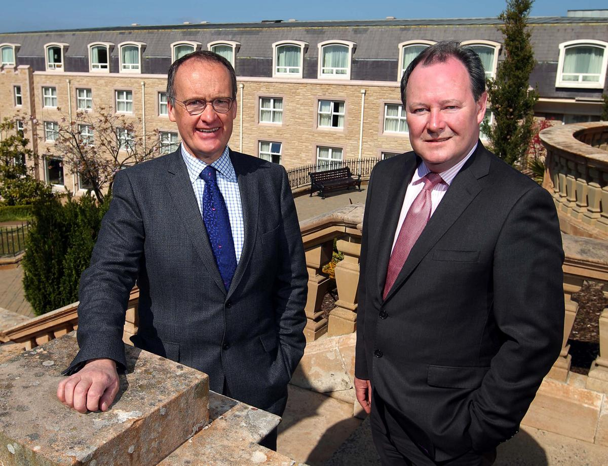 Group managing director Howard Hastings (left) and Culloden Estate general manager Eoin O'Sullivan (right)