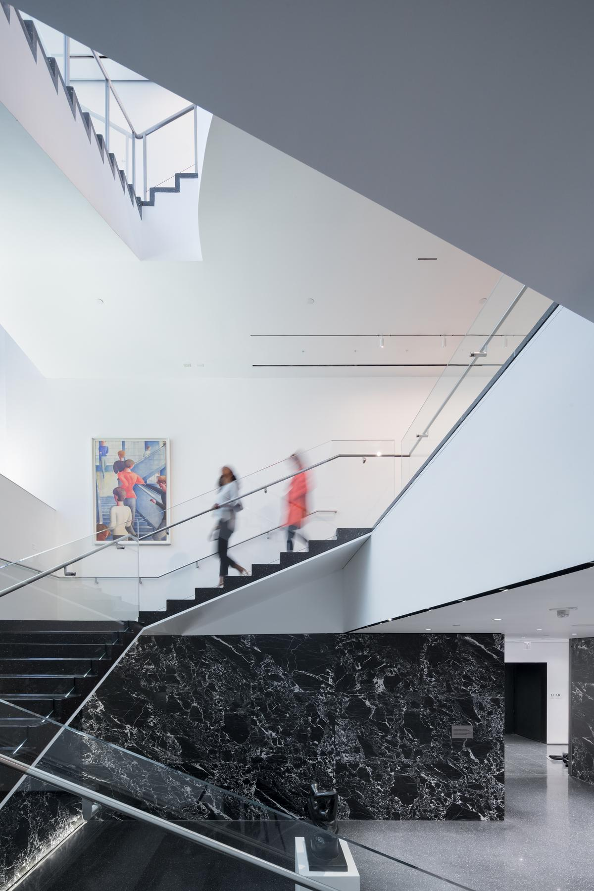 The architects have reconfigured 15,000sq ft of space and restored and extended the historic Bauhaus staircase / Iwan Baan