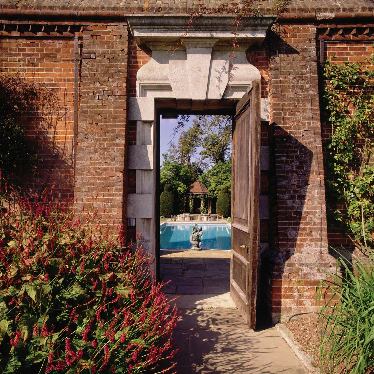 The entrance to the spa will be adjacent to the walled garden
