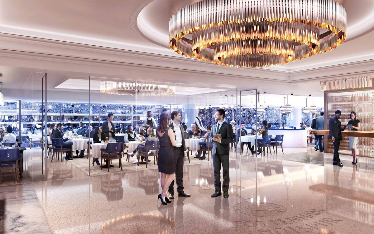 White Hart Lane's new H Club will be one venue where spectators can sample the Roux family menu / Populous
