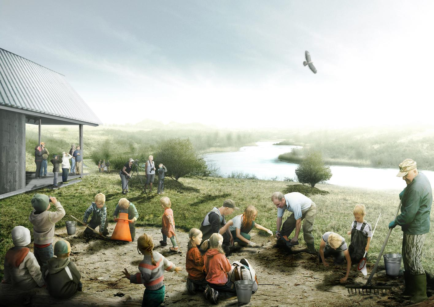 The design concept is centred around the idea of bringing leisure and culture into the outdoors / SLA