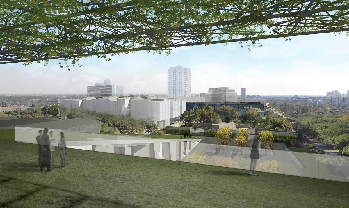 The 165,000sq ft (15,300sq m) Nancy and Rich Kinder Building is the centerpiece of the museum's wider US$450m (€400m, £348m) expansion / Steven Holl Architects