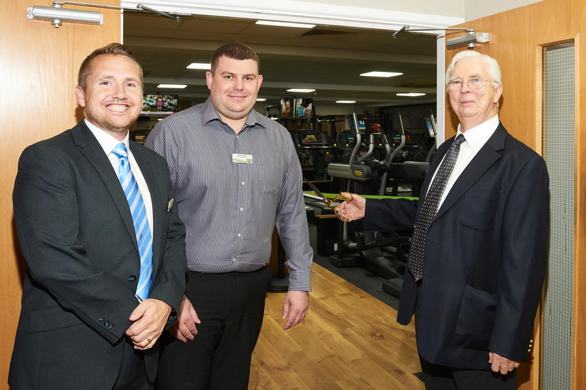 (L-R) Karl Hayes, operations manager at Impulse Leisure, Stuart James, Lancing Manor leisure centre manager and Peter Wilson, Impulse board chairman