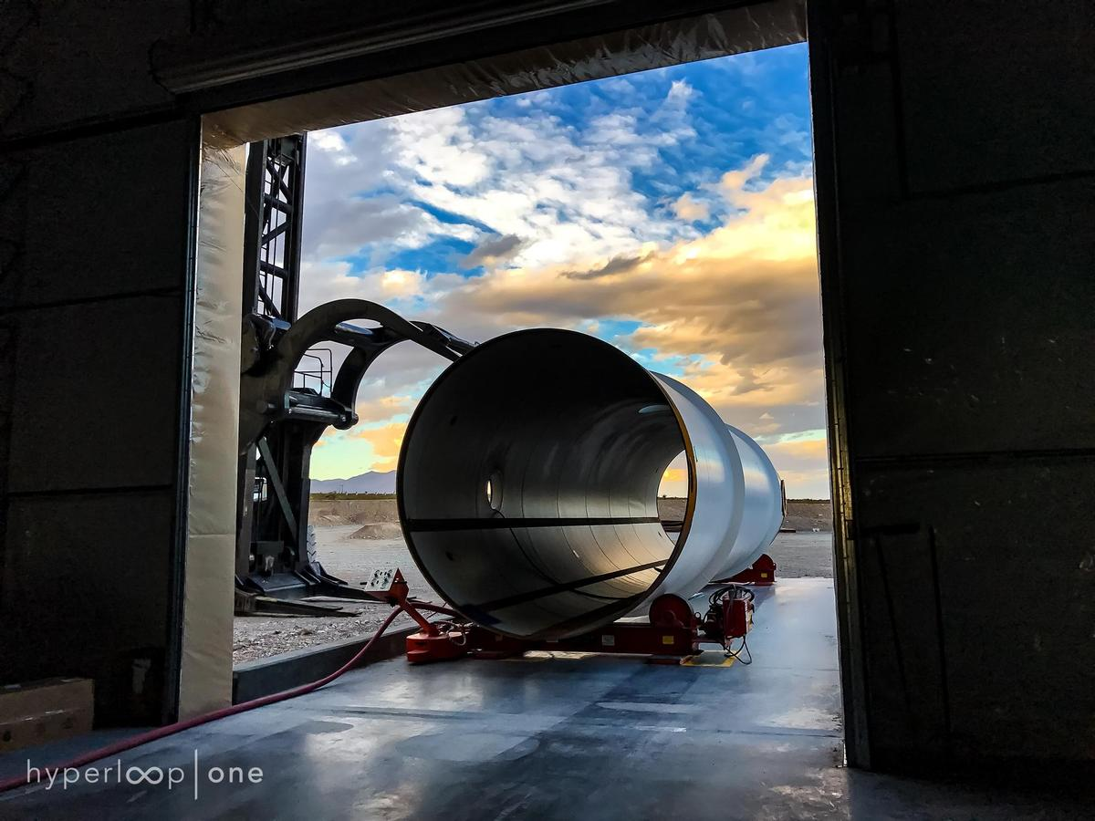 With Hyperloop One, passengers and cargo are loaded into a pod and accelerated gradually via electric propulsion through a low-pressure tube / Hyperloop One