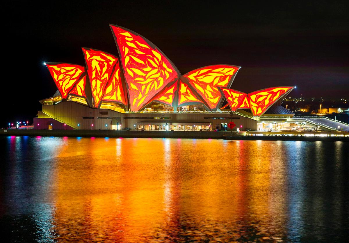As part of Vivid Sydney, the Sydney Opera House was lit up with a different pattern every day / Vivid Sydney