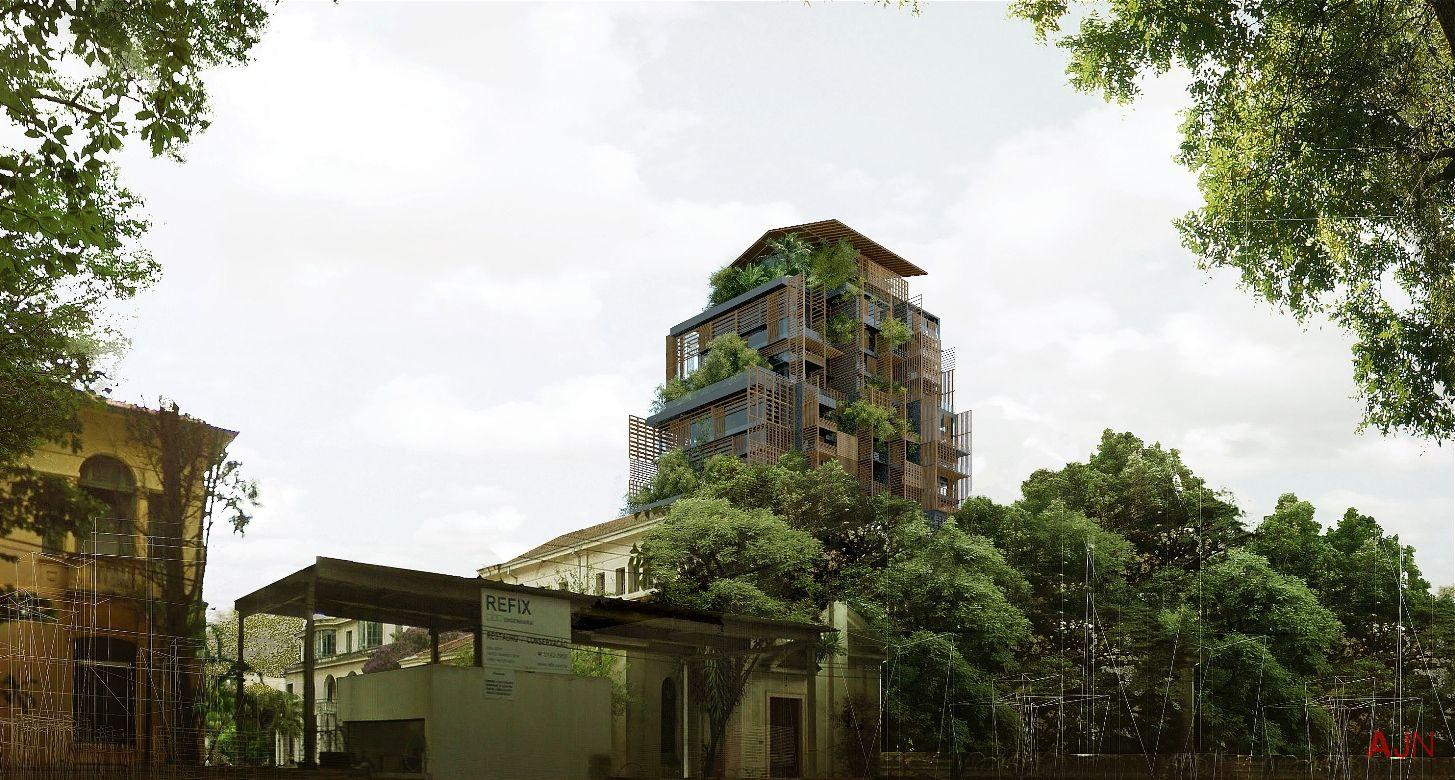 Nouvel is creating the centrepiece hotel, which will be managed by Rosewood / Atelier Jean Nouvel