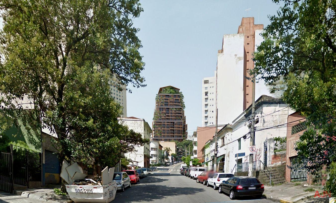 A new 90m tower with a latticed steel facade covered in plants will rise next to the site's historic maternity hospital / Atelier Jean Nouvel