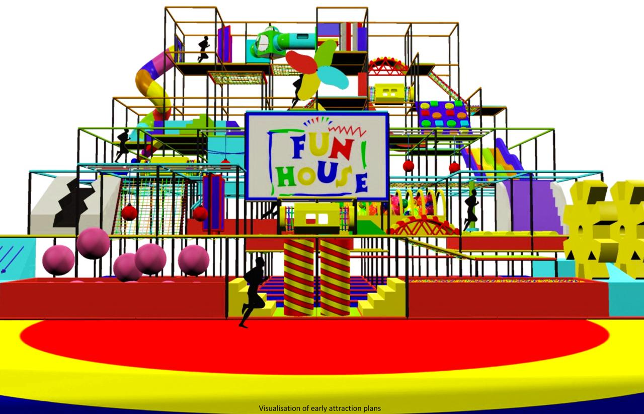 The team are seeking £650,000 (US$825,000, €739,000) to bring a Fun House attraction to life