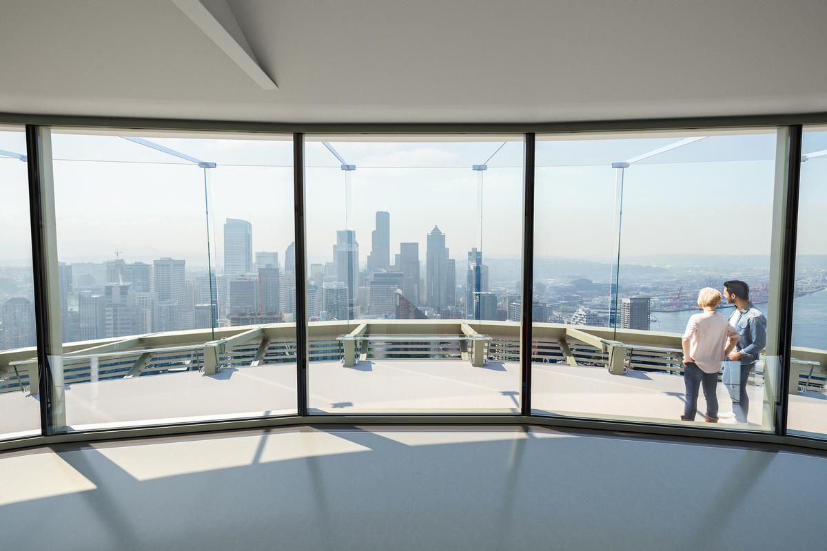 "The design principle of the renovation was about ""getting out of the way of the view."