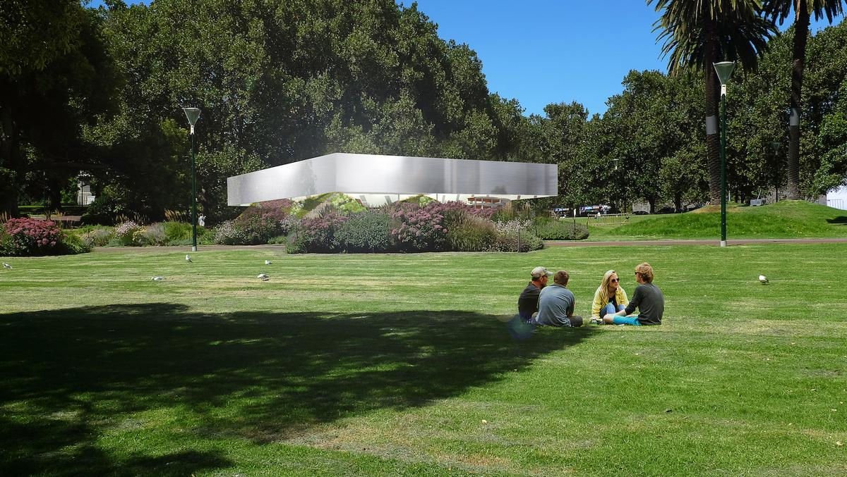 The temporary landmark and events hub, located in Melbourne's Queen Victoria Gardens, will host a free programme of talks and workshops / MPavilion