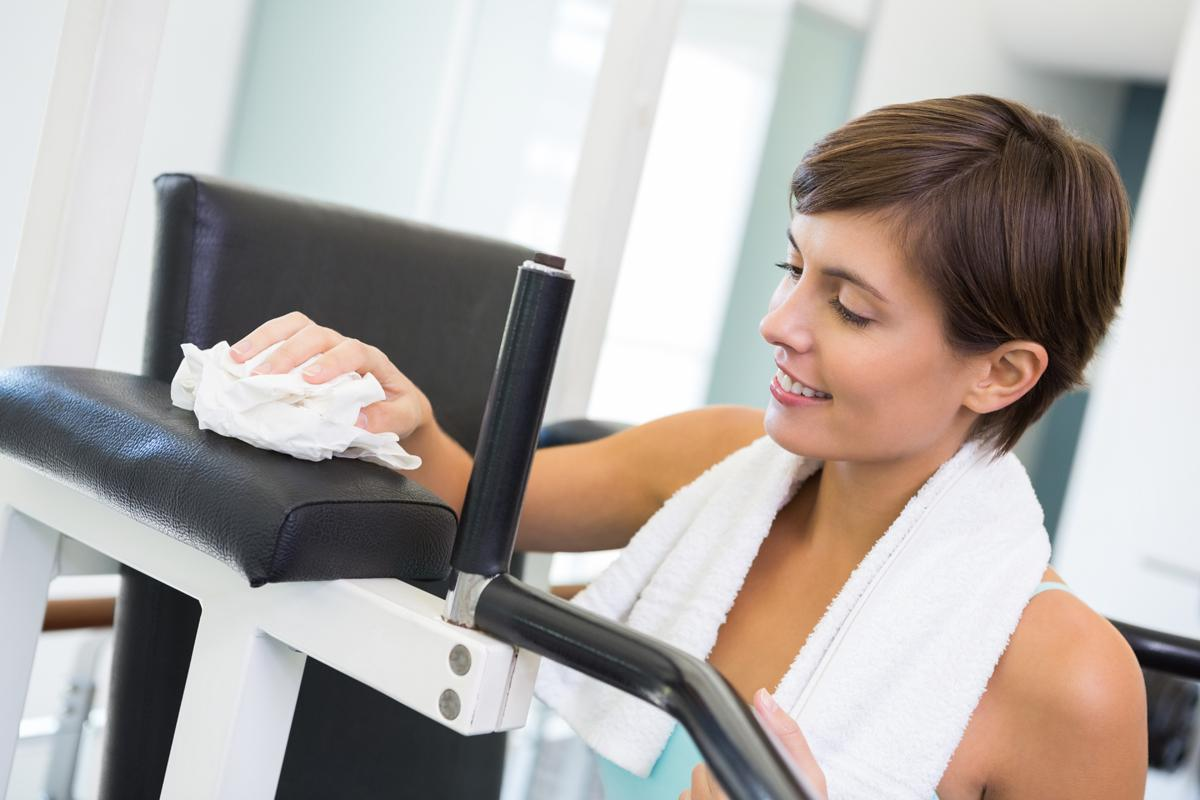 ukacative said health club operators provided antibacterial wipes and hand sanitisers to clean down equipment after use