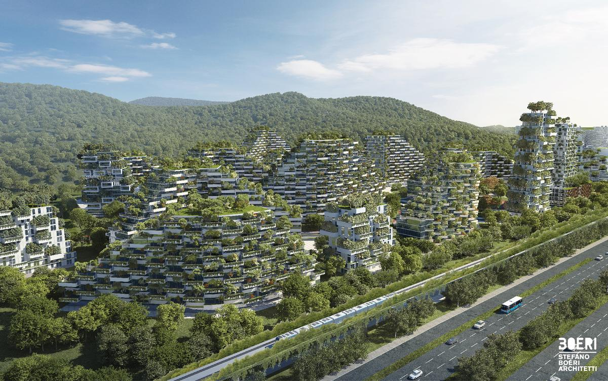 The plants and trees in the city will produce approximately 900 tons of oxygen per year / Stefano Boeri Architetti