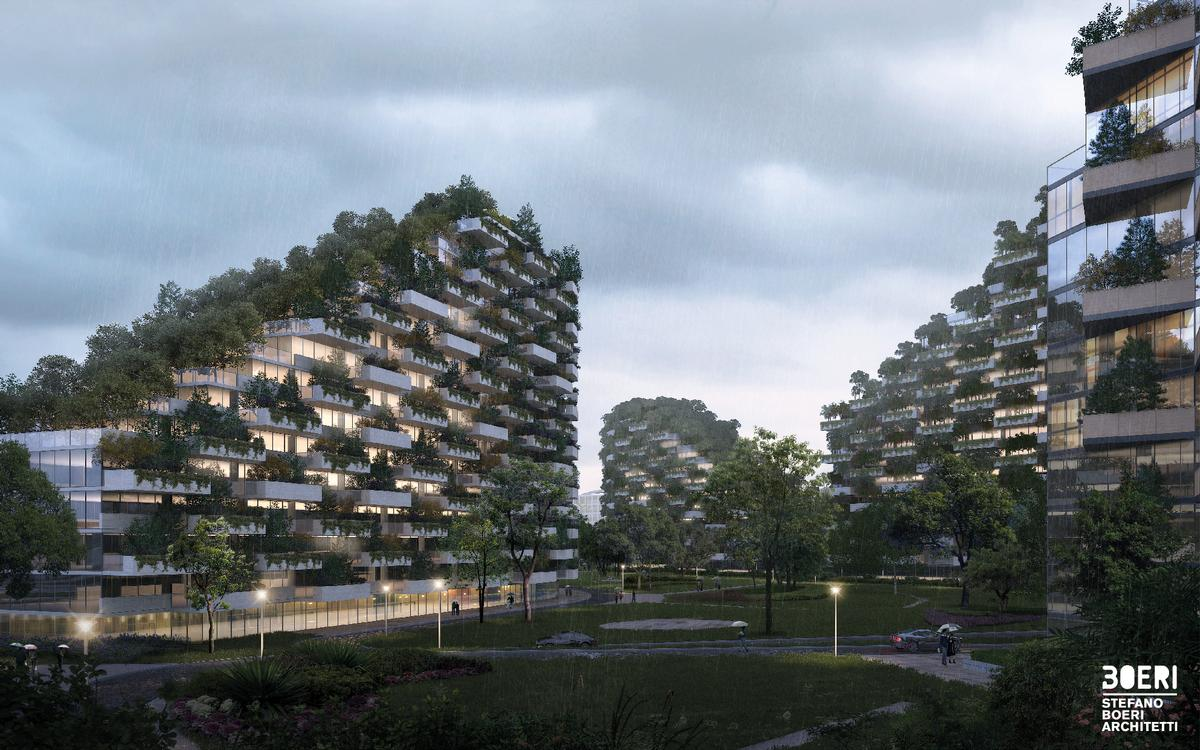 The city will be located on a 175 hectares site in the mountain area of Guangxi, southern China / Stefano Boeri Architetti