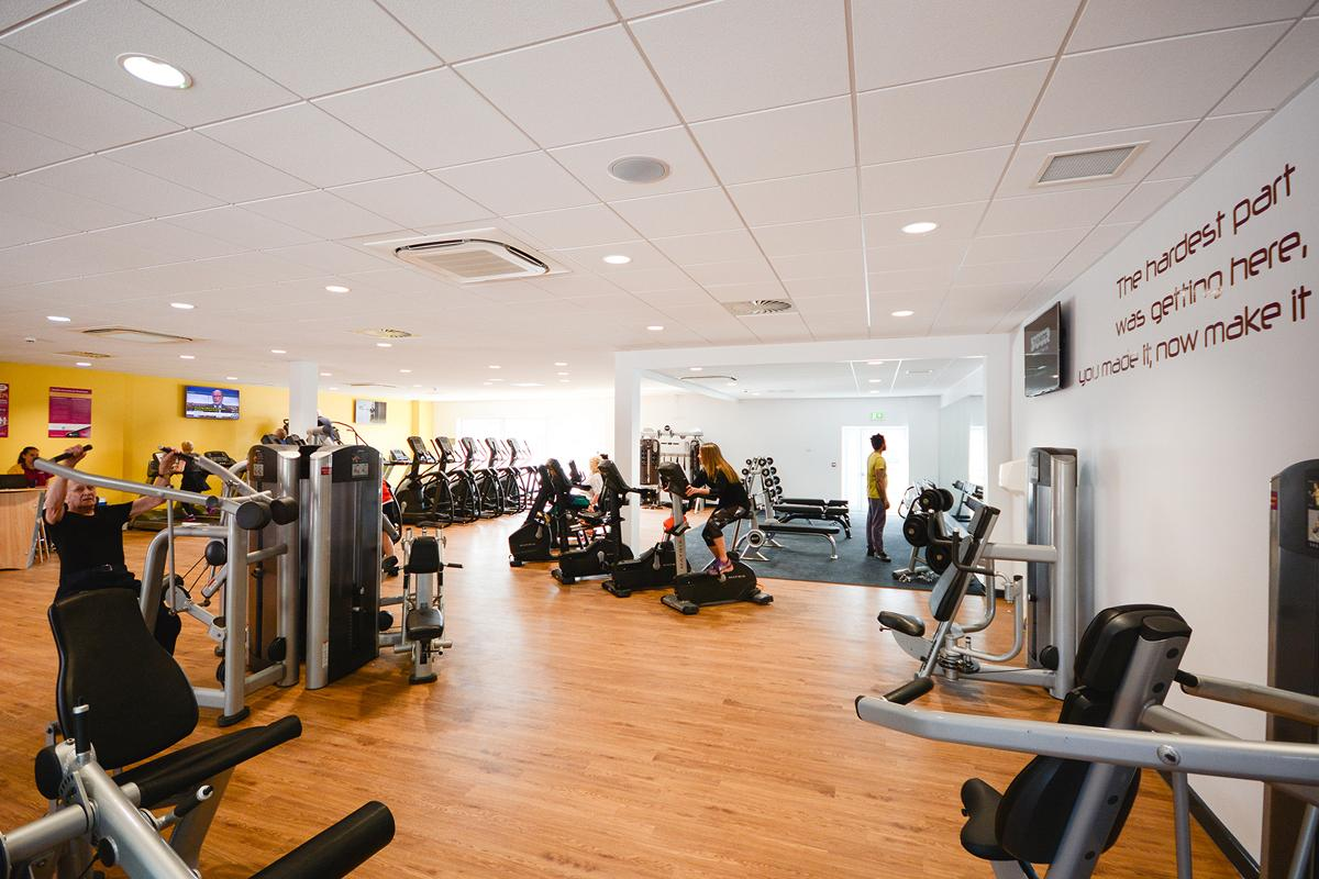 The gym at Ledbury Swimming Pool  / Halo Leisure