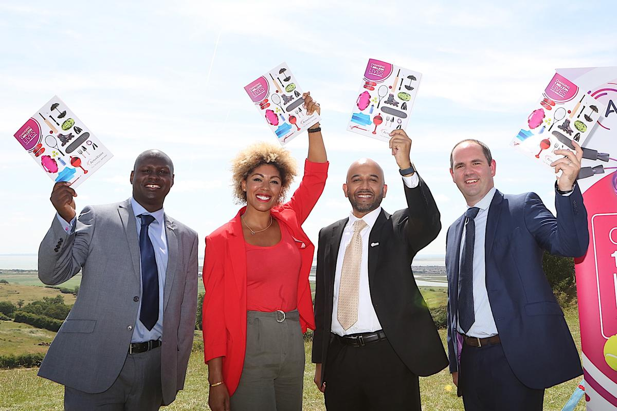 (L-R) Jason Fergus of Active Essex, Dr Zoe Williams of Public Health England, Azeem Akhtar of Active Essex and Ed Sandham of Sport England