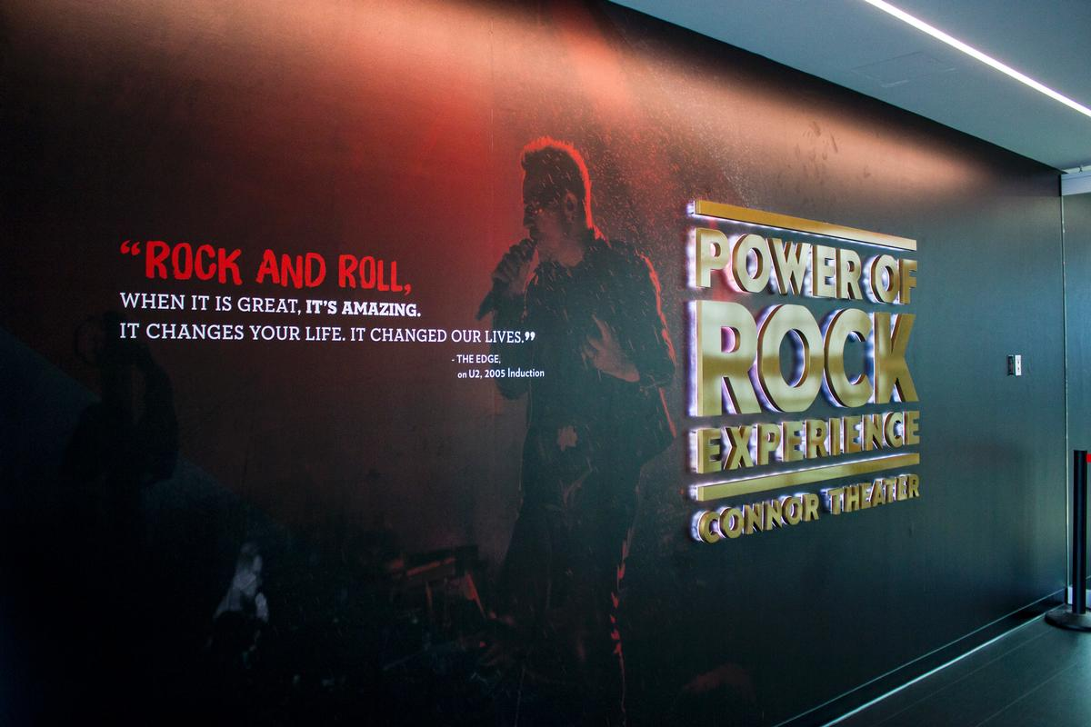 The Power of Rock features the inductions of more than 100 artist, creating an immersive experience recreating a Hall of Fame induction / Rock and Roll Hall of Fame
