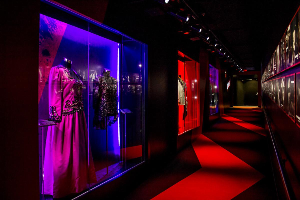 Following the show's conclusion, guests can see real-life artefacts from the performances they have just seen / Rock and Roll Hall of Fame