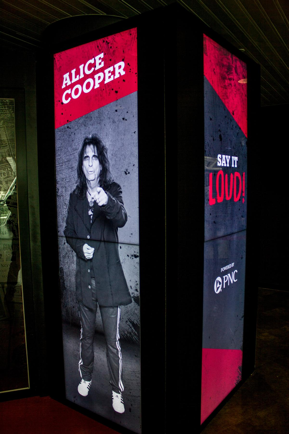 The 'Say it Loud' story booths have different Hall of Fame inductees 'interview' visitors in special interactive booths / Rock and Roll Hall of Fame