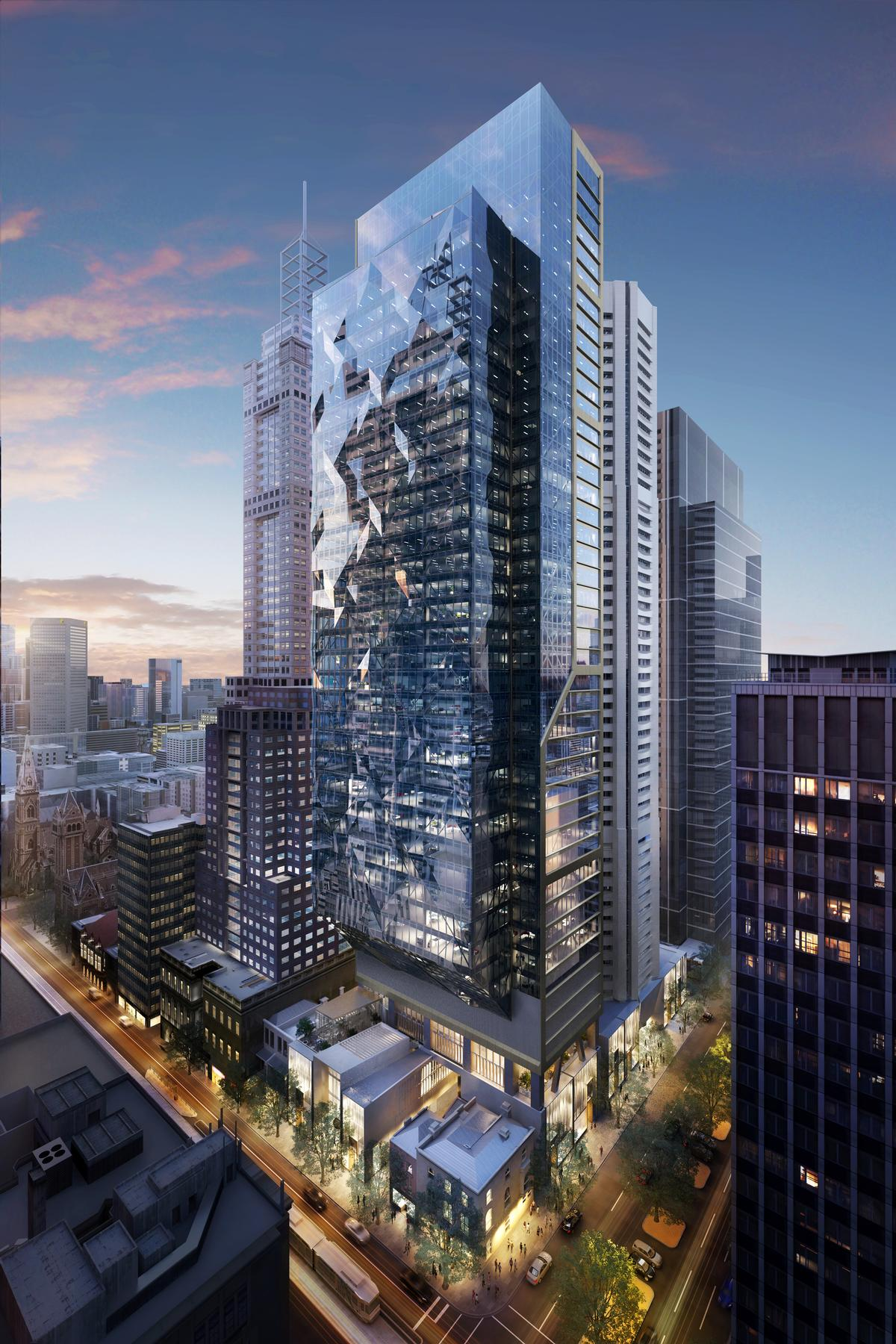 Qicre said 80 collins will be a destination that honours for Architecture firms melbourne