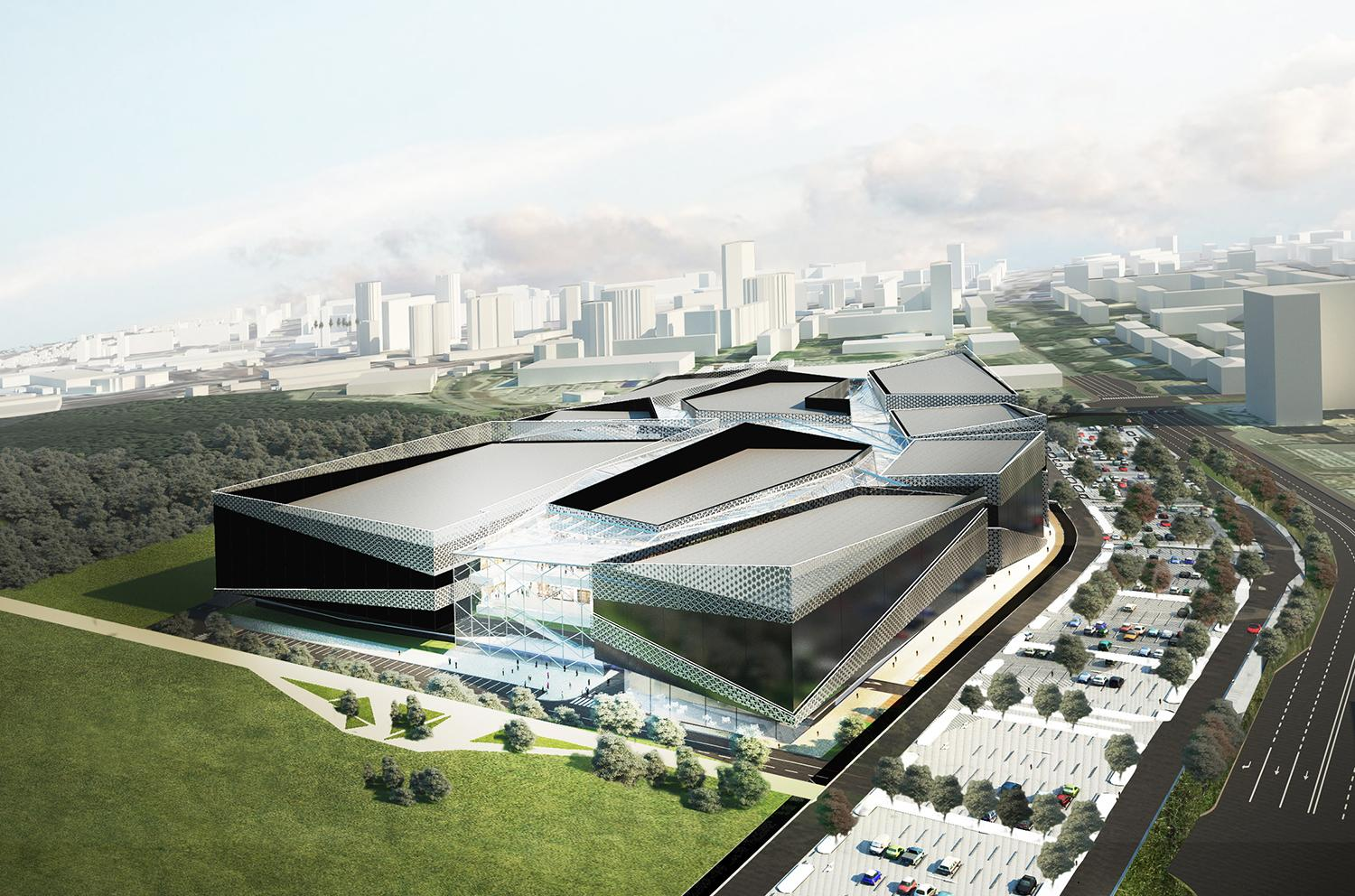 The 120,000sq m Cosmonavtov Mall will anchor the regeneration of the city's former industrial centre / Twelve Architecture
