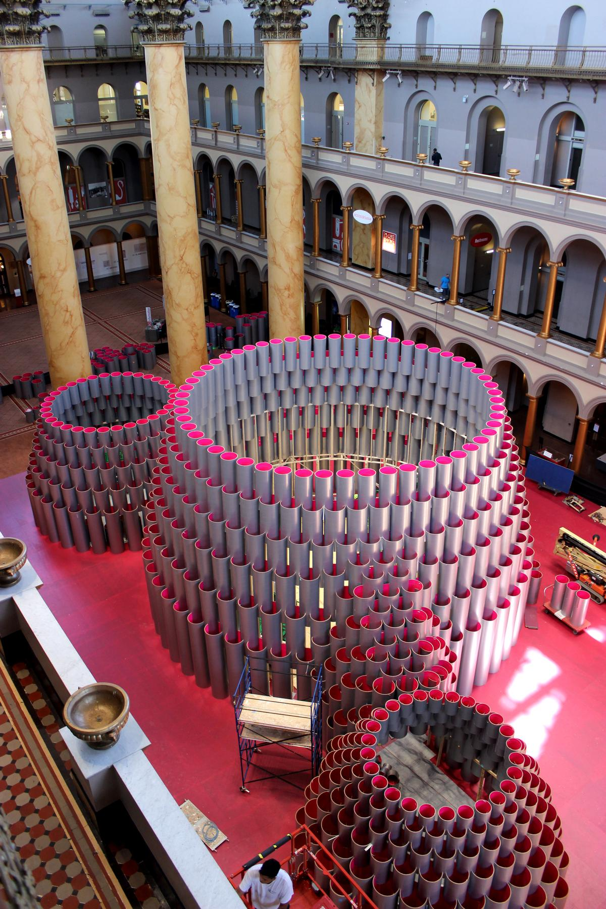 The Hive, mid-way through construction / National Building Museum