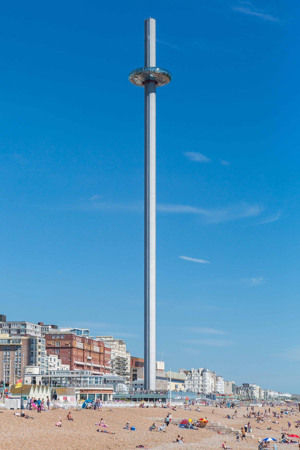 Marks Barfield's i360 'vertical cable car' in Brighton  / WAF