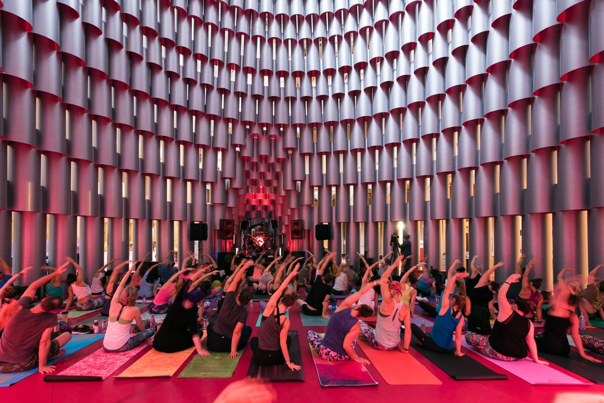 Yoga and other social activities take place in the Hive / Tim Schenck