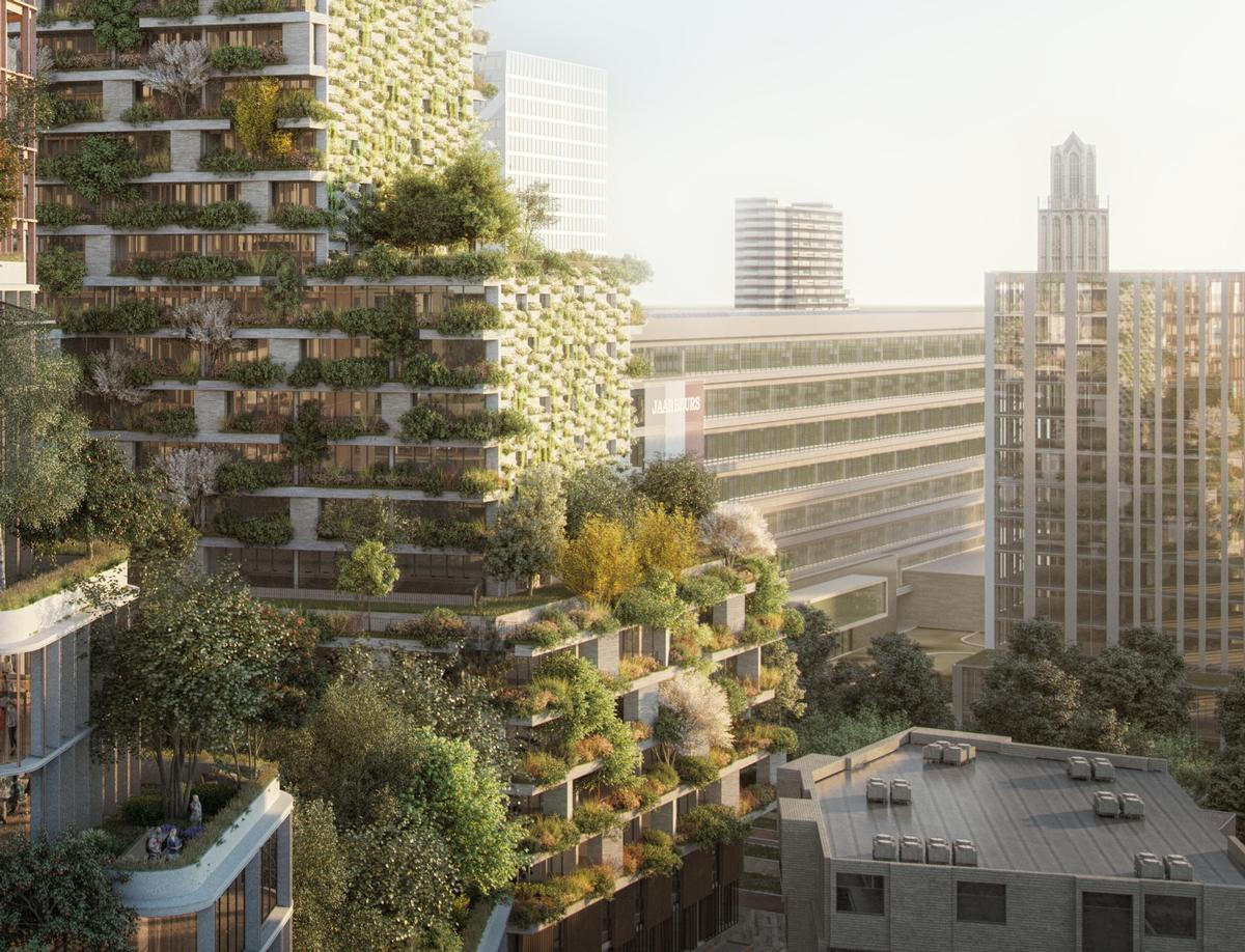 The project represents Boeri's first Vertical Forest in the Netherlands / Stefano Boeri Architetti