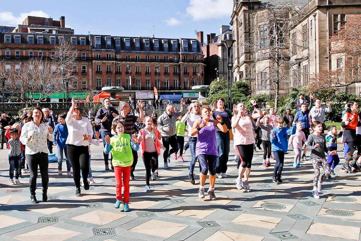 More than 10,000 people took part in activities across the city