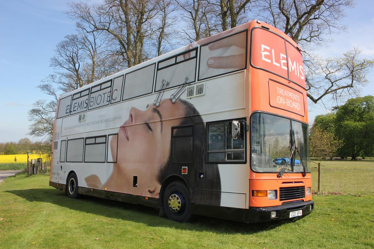 The Elemis bus will offer taster sessions of signature Macdonald treatments