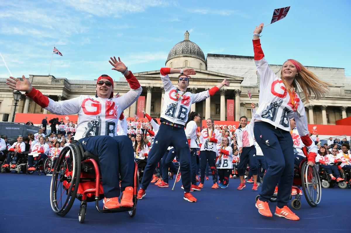 stage during the Olympic and Paralympic athletes heroes' return in London. /  Dominic Lipinski/PA Archive/PA Images