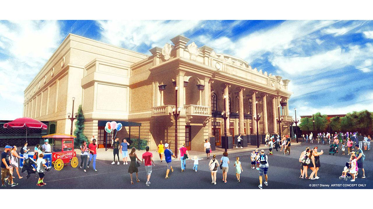 Disney is introducing a new entertainment venue on Main Street, U.S.A., with a theatre based on the 1920s Willis Wood theater