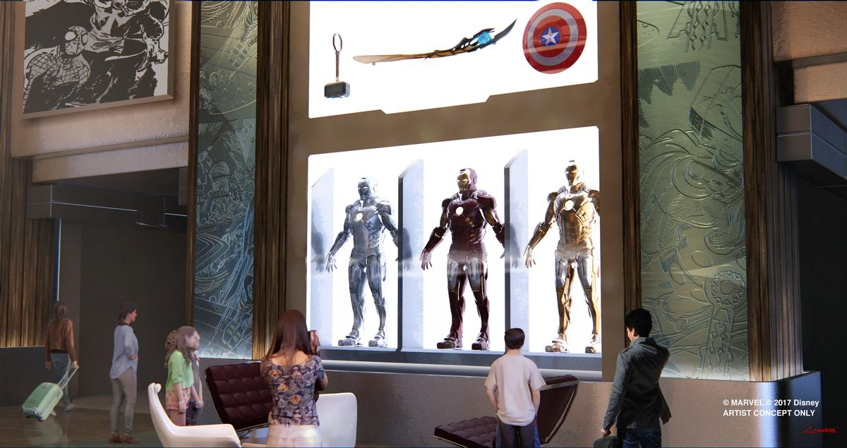 """Disney's Hotel New York is getting a Marvel-themed makeover, dubbed """"The Art of Marvel"""""""