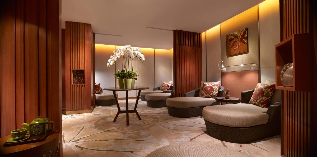 As part of the hotel's long-term development strategy, its spa has also been revamped and moved next to the salon in the Garden Wing. / Shangri-La
