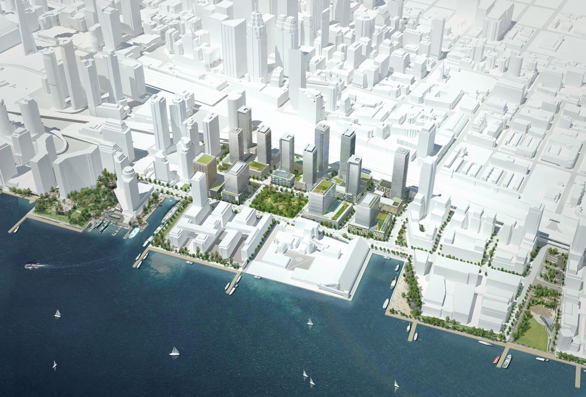 The practice were commissioned by the City of Toronto to examine the Lower Yonge precinct around the Toronto Waterfront / Perkins + Will