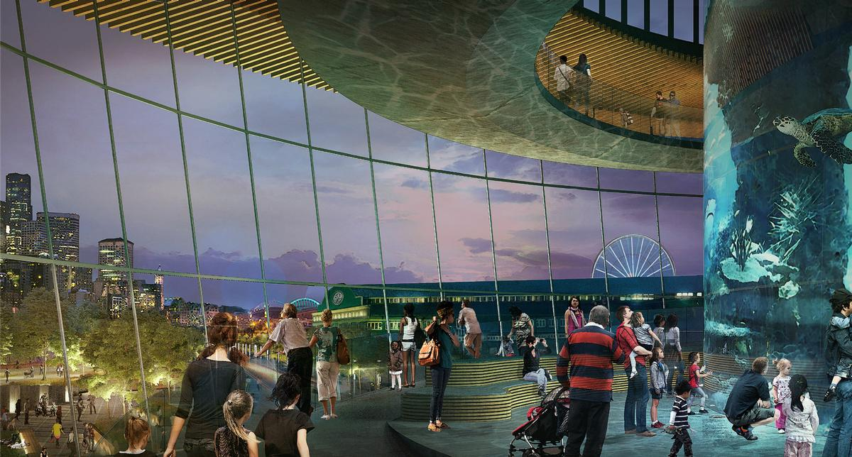 A central pavilion will be the expansion's main focus