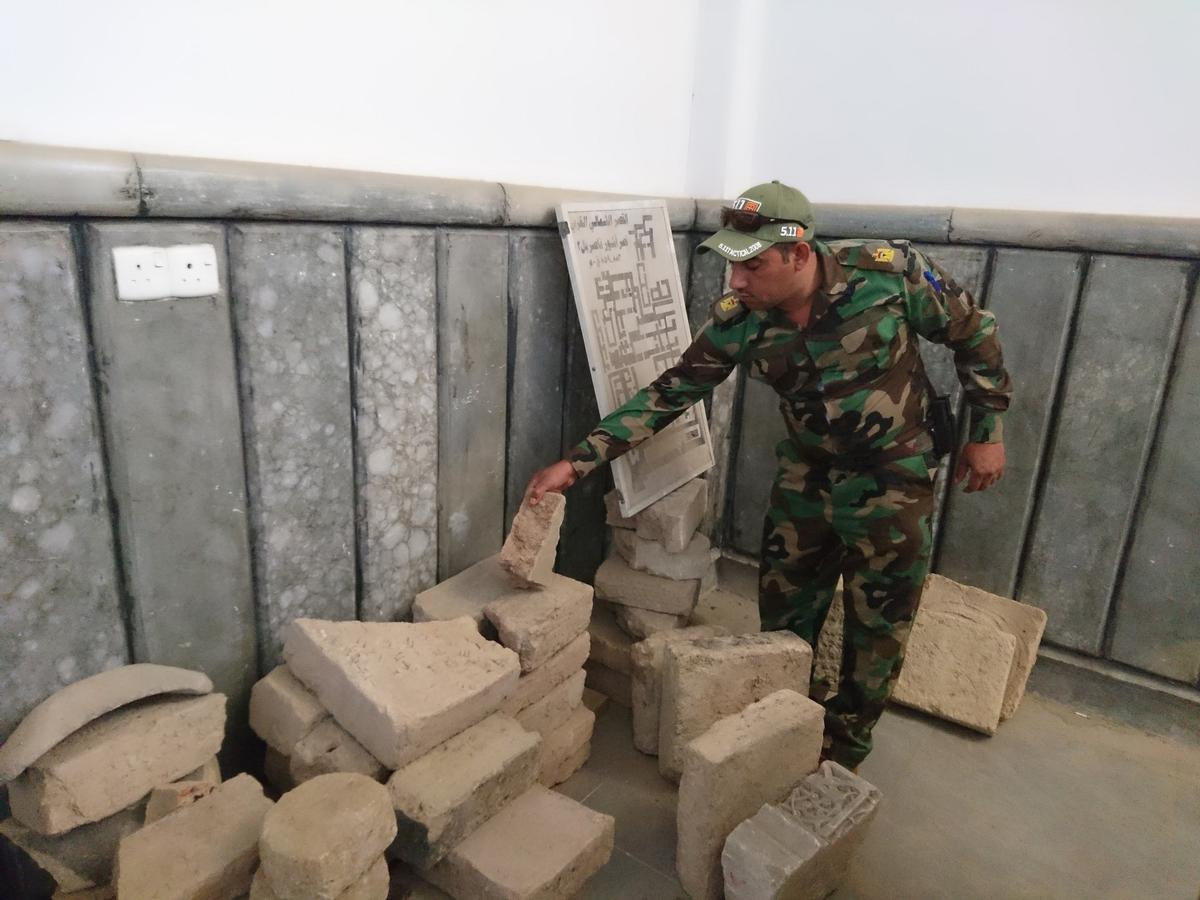 Antiques stolen from the Mosul Museum by the Islamic State group and hidden in the University of Mosul / Xinhua/SIPA USA/PA Images